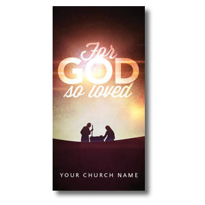 For God So Loved Nativity Church Postcards