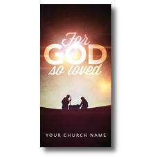 For God So Loved Nativity XLarge Postcard