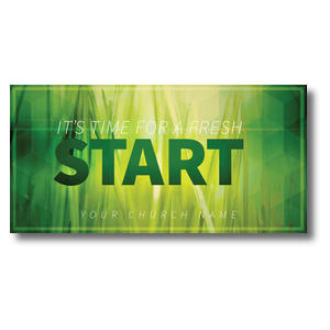 Green Grass Start Church Postcards