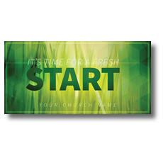 Green Grass Start XLarge Postcard