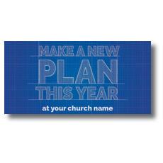 Blue Print Plan XLarge Postcard