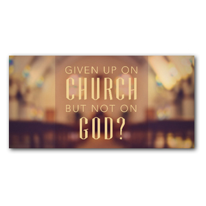 Given up Church XLarge Postcards