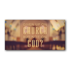 Given up Church XLarge Postcard