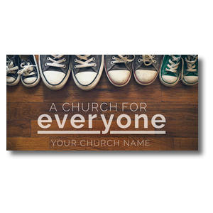 "Everyone Shoes 11 x 5.5 Oversized Postcard 11"" x 5.5"" Oversized Postcards"
