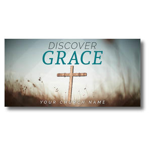 Discover Grace Cross XLarge Postcards