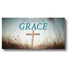 Discover Grace Cross XLarge Postcard