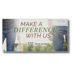 Make a Difference With Us XLarge Postcards
