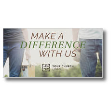 Make a Difference With Us XLarge Postcard