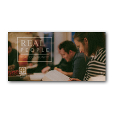 Real People Real Community XLarge Postcard
