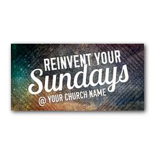 Reinvent Your Sundays XLarge Postcard
