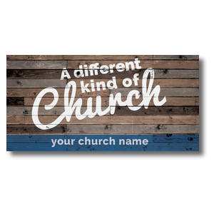 "Different Kind of Church 11 x 5.5 Oversized Postcard 11"" x 5.5"" Oversized Postcards"