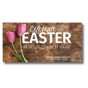 Celebrate Easter Tulips XLarge Postcards