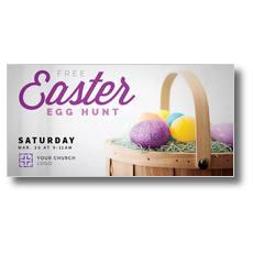Easter Egg Hunt XLarge Postcard