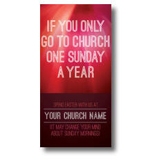 One Sunday a Year XLarge Postcard