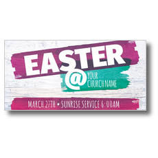 White Wood Easter XLarge Postcard