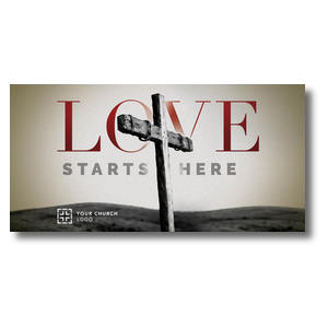 Love Starts Here XLarge Postcards