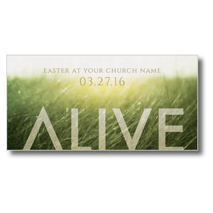 "Alive Easter 11"" x 5.5"" Oversized Postcards"
