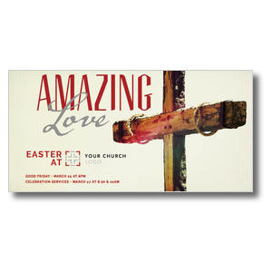 Amazing Love Cross XLarge Postcards