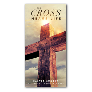 Cross Means Life XLarge Postcards