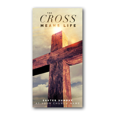 Cross Means Life XLarge Postcard