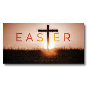 "Easter Cross 11"" x 5.5"" Oversized Postcards"