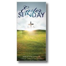 Easter Hillside XLarge Postcard