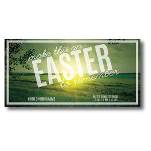Easter to Remember Green XLarge Postcards