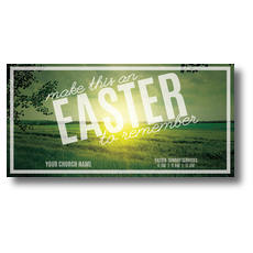 Easter to Remember Green XLarge Postcard