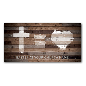 "Cross Equals Love 11"" x 5.5"" Oversized Postcards"