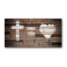 Cross Equals Love XLarge Postcard
