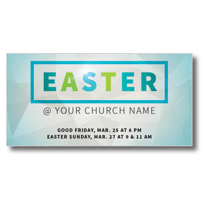 Easter At Rectangle XLarge Postcards