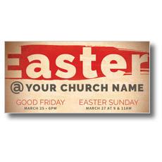 Easter At Red Brushstroke XLarge Postcard