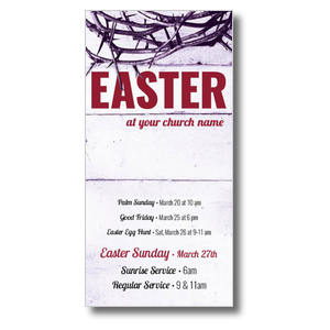 "Easter Crown of Thorns 11"" x 5.5"" Oversized Postcards"