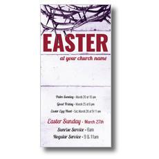 Easter Crown of Thorns XLarge Postcard