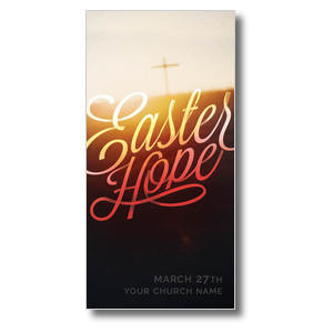 Easter Hope Script Church Postcards