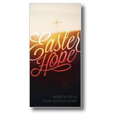 Easter Hope Script XLarge Postcard