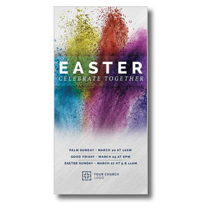 Easter Powder Paint XLarge Postcards