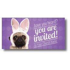 Easter Pug XLarge Postcard