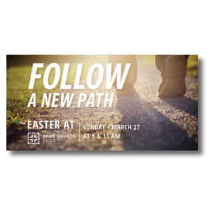 "Follow a New Path 11"" x 5.5"" Oversized Postcards"