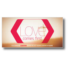 Love Comes First XLarge Postcard