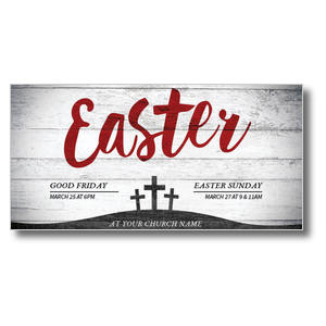 Red Easter XLarge Postcards