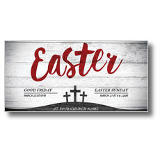 Red Easter XLarge Postcard
