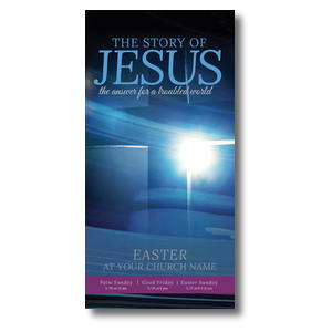 "Story of Jesus Cross 11"" x 5.5"" Oversized Postcards"