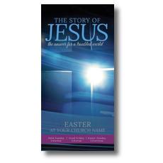 Story of Jesus Cross XLarge Postcard