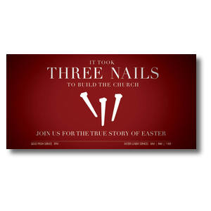 "Three Nails 11"" x 5.5"" Oversized Postcards"