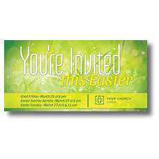 You're Invited Easter Green XLarge Postcard