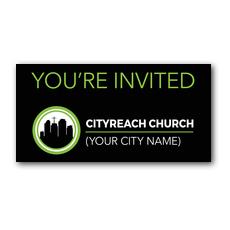 CityReach Black XLarge Postcard