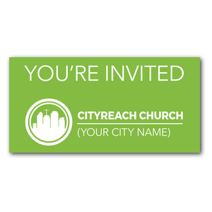 CityReach Green XLarge Postcards