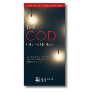 "God Questions 11"" x 5.5"" Oversized Postcards"