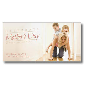 Mother's Day Piggy Back XLarge Postcards